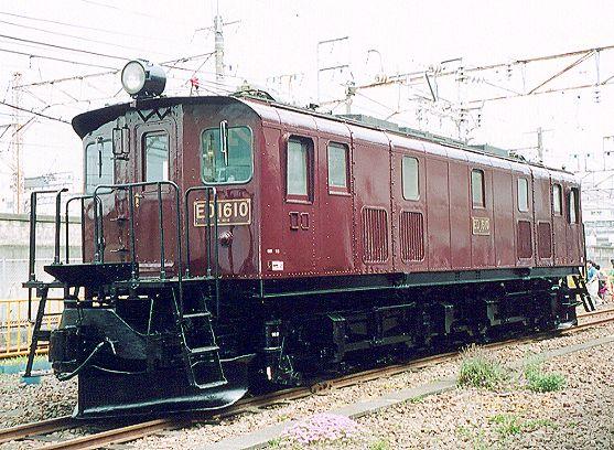 展示のED16形電気機関車の画像です 今年はED16形電気機関車も整備され、展示されました。最後